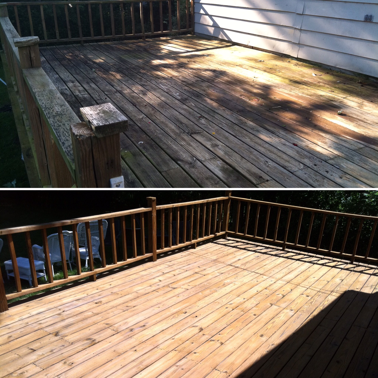 how to clean a deck before sealing
